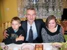 Paulinka z tatusiem i braciszkiem